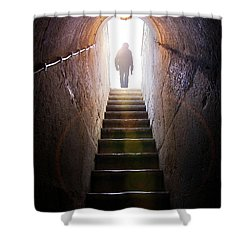 Dungeon Exit Shower Curtain by Carlos Caetano