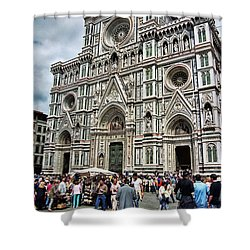Duomo Of Florence Shower Curtain by Allen Beatty