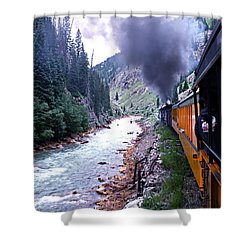 Durango To Silverton Shower Curtain by Kume Bryant