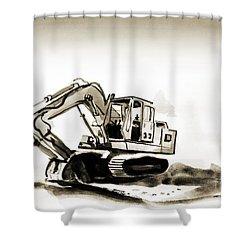 Duty Dozer In Sepia Shower Curtain by Kip DeVore