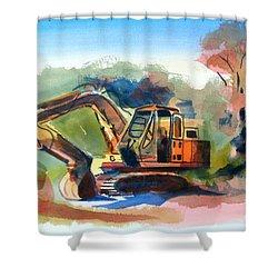 Duty Dozer Shower Curtain by Kip DeVore