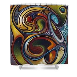 Dynamic Series #15 Shower Curtain by Ricardo Chavez-Mendez