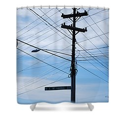 E Wt Harris Blvd - Charlotte Shower Curtain by Paulette B Wright