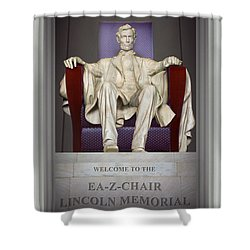 Ea-z-chair Lincoln Memorial 2 Shower Curtain by Mike McGlothlen