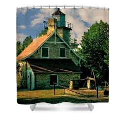 Eagle Bluff Light 2.0 Shower Curtain by Michelle Calkins