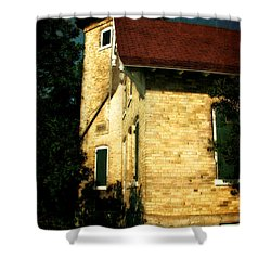 Eagle Bluff Light Shower Curtain by Michelle Calkins