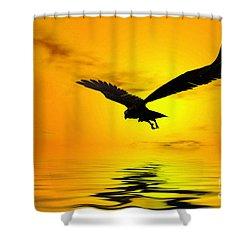 Eagle Sunset Shower Curtain by John Edwards