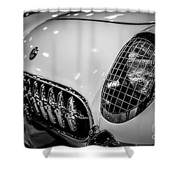 Early 1950's Chevrolet Corvette C1 Shower Curtain by Paul Velgos