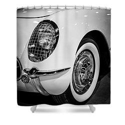 Early 1950's Chevrolet Corvette Shower Curtain by Paul Velgos