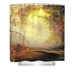 Early In The Morning Shower Curtain by Sorin Apostolescu