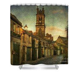 Early Morning Edinburgh Shower Curtain by Lois Bryan