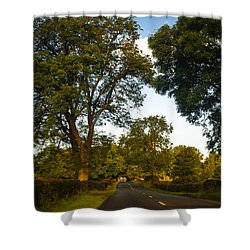 Early Morning On The Way To Trossachs. Scotland Shower Curtain by Jenny Rainbow