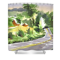 Early Morning Out Route Jj Shower Curtain by Kip DeVore