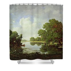 Early Summer Afternoon Shower Curtain by Pierre Etienne Theodore Rousseau