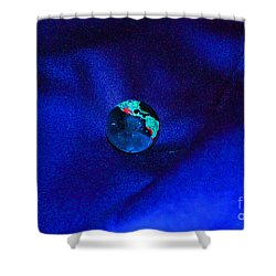 Earth Alone Shower Curtain by First Star Art