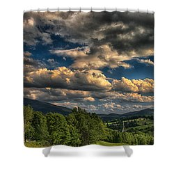 Earth Bending At Mt. Ascutney Shower Curtain by Nathan Larson
