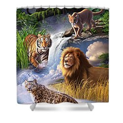 Earth Day 2013 Poster Shower Curtain by Jerry LoFaro