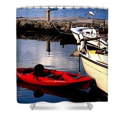 Ease Of The Keys Shower Curtain by Karen Wiles