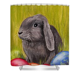 Easter Bunny Shower Curtain by Anastasiya Malakhova