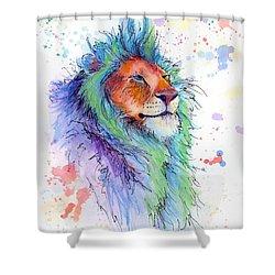 Easter Lion Shower Curtain by Arleana Holtzmann
