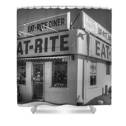 Eat Rite Diner Shower Curtain by Jane Linders