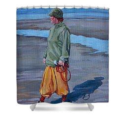 Ebb Tide Shower Curtain by Derrick Higgins
