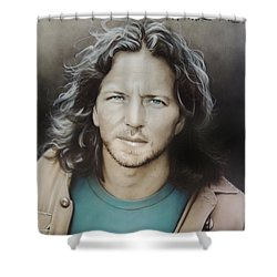 ' Eddie Vedder ' Shower Curtain by Christian Chapman Art