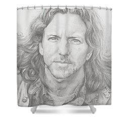 Eddie Vedder Shower Curtain by Olivia Schiermeyer