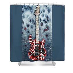 Eddie's Frankenstrat Shower Curtain by Arturo Vilmenay