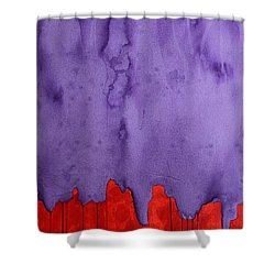 Edge Of The West Original Painting Shower Curtain by Sol Luckman