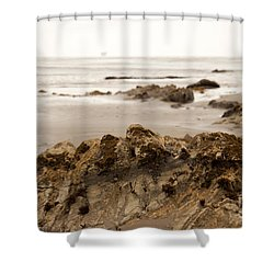 Edges Shower Curtain by Amanda Barcon