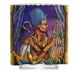 Egyptian Triptych Variant I Shower Curtain by Ciro Marchetti
