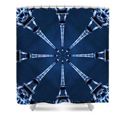 Eiffel Art 21 Shower Curtain by Mike McGlothlen