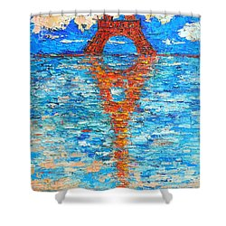 Eiffel Tower Abstract Impression Shower Curtain by Ana Maria Edulescu