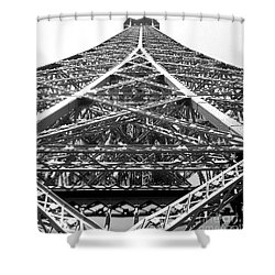 Eiffel Tower Shower Curtain by Andrea Anderegg