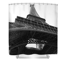 Eiffel Tower B/w Shower Curtain by Jennifer Ancker
