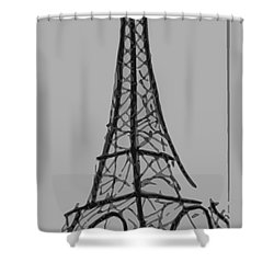 Eiffel Tower Lines Shower Curtain by Robyn Saunders