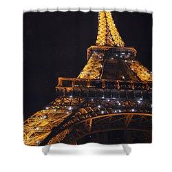 Eiffel Tower Paris France Illuminated Shower Curtain by Patricia Awapara