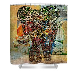 Elefantos - Co01at03 Shower Curtain by Variance Collections