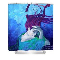 Elegy Shower Curtain by Dorina  Costras