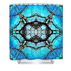 Elemental Force Shower Curtain by Shawna Rowe