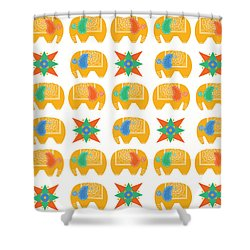Elephant Print Shower Curtain by Susan Claire