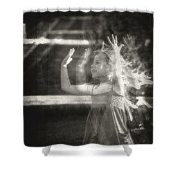 Elevator Prozac Shower Curtain by Taylan Soyturk