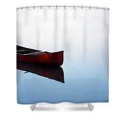 Elizabeth's Canoe Shower Curtain by Skip Willits