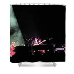 Elton And Band Shower Curtain by Aaron Martens