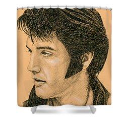 Elvis Las Vegas 69 Shower Curtain by Rob De Vries