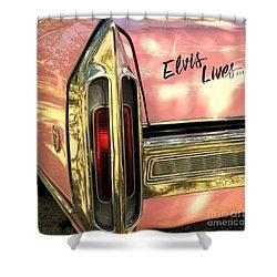 Elvis Lives Shower Curtain by Joe Jake Pratt