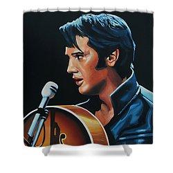 Elvis Presley 3 Painting Shower Curtain by Paul Meijering