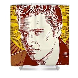 Elvis Presley Pop Art Shower Curtain by Jim Zahniser