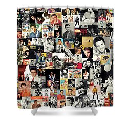 Elvis The King Shower Curtain by Taylan Soyturk